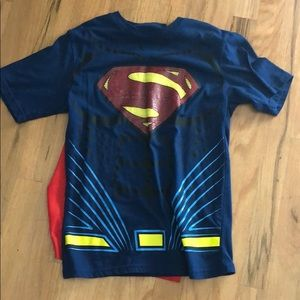 Boys shirt with detachable cape 10/12